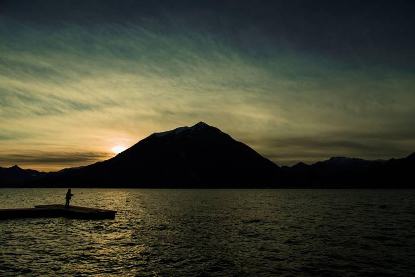 Pescatore al tramonto -  Varenna (LC)