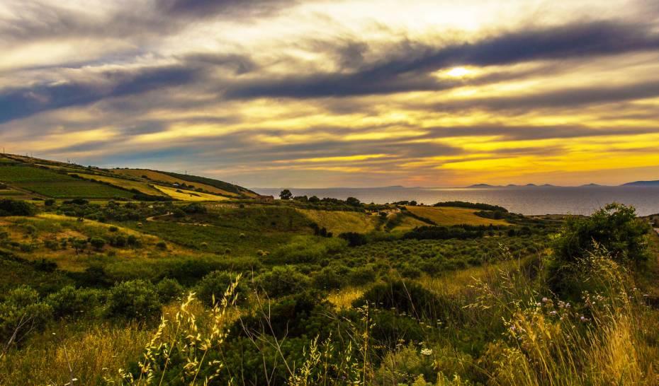 tramonto sul golfo dell'asinara