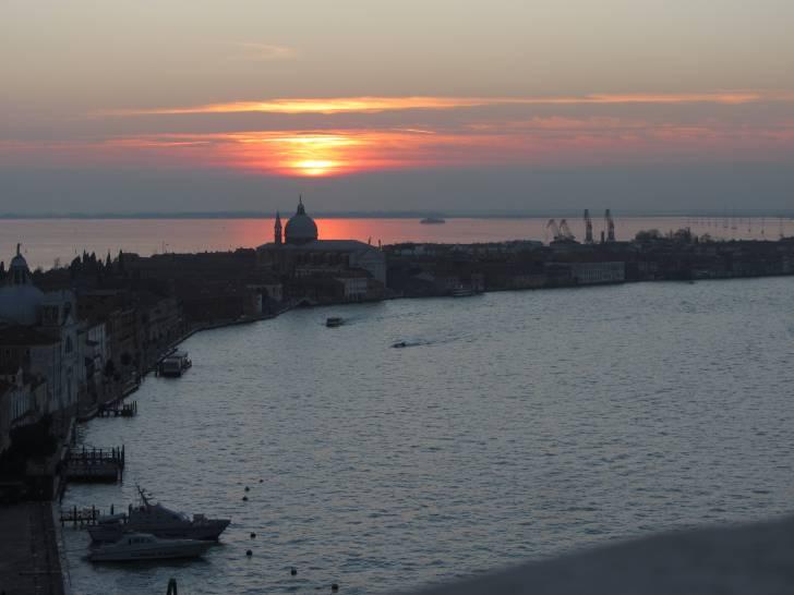 Tramonto sopra la Giudecca ,.Venezia