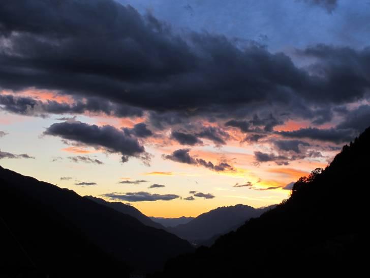 tramonto al passo dell'Aprica.