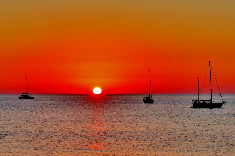 Tramonto sul mare di Cefalù