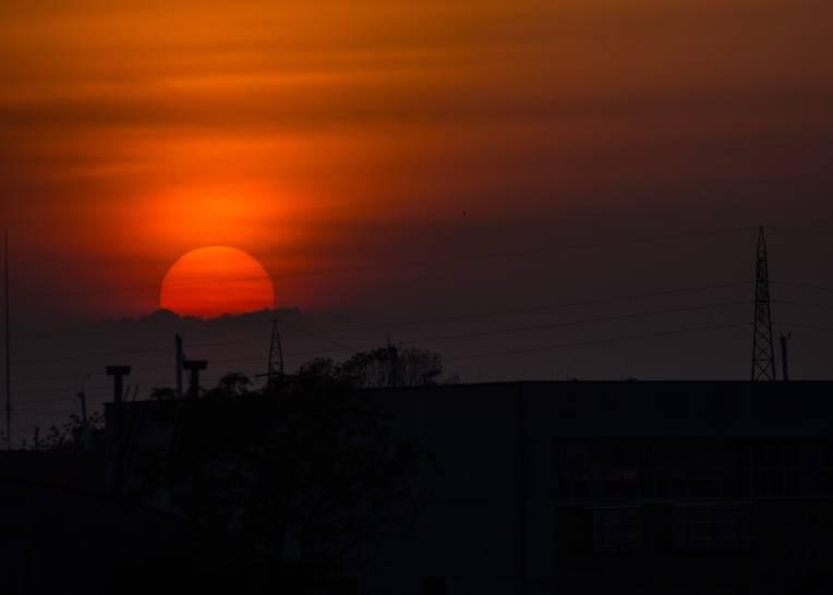 tramonto a Cesenatico