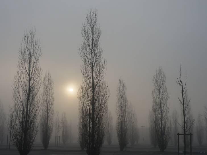 Cielo invernale a Perugia, Pian di Massiano