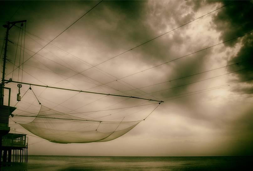 rimini all'alba con i pescatori