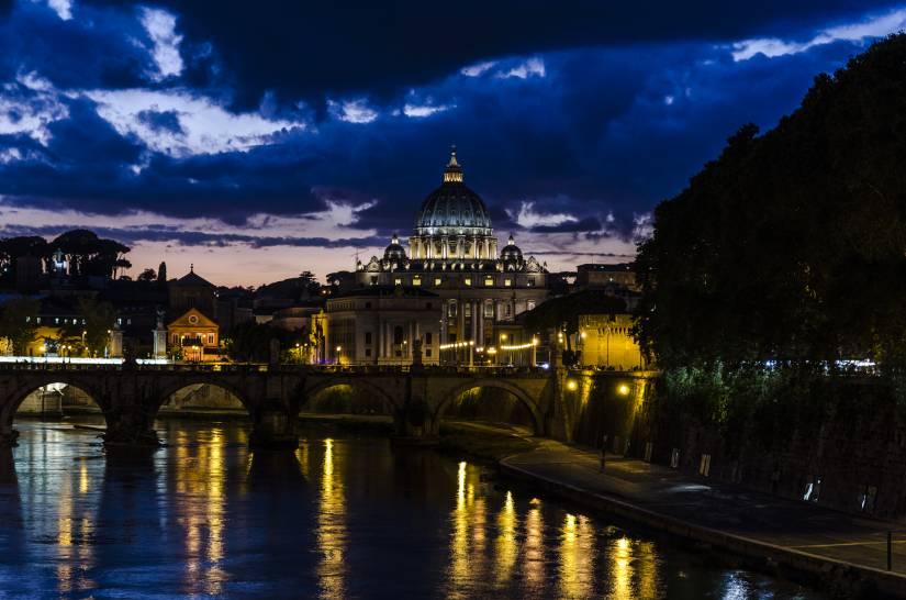 Roma dopo il temporale (ora blu)