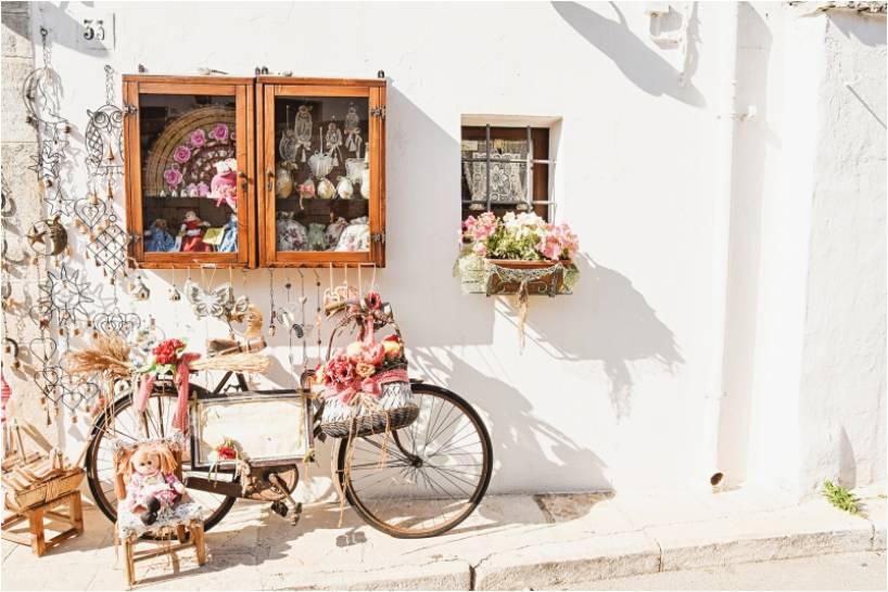 Una bicicletta in ghingheri