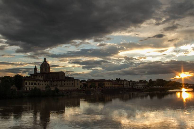 Nuvole sull'Arno