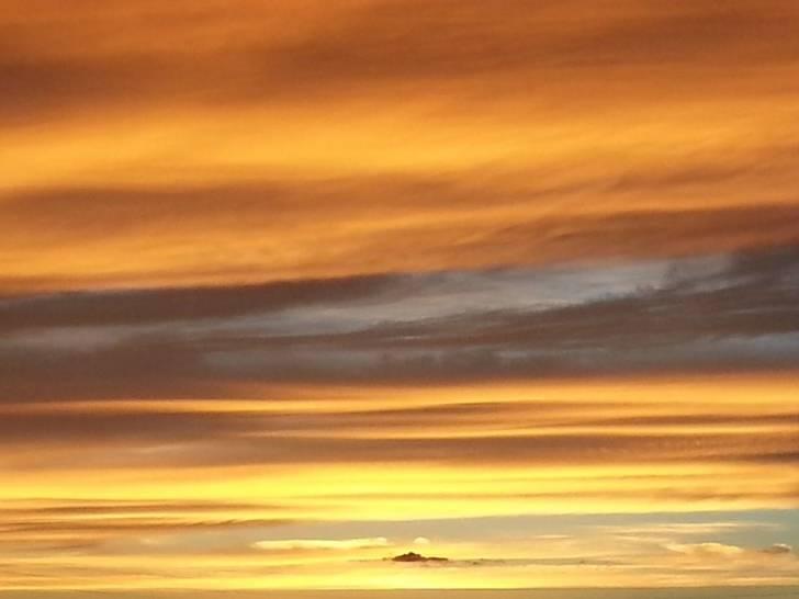 tramonto acquerello