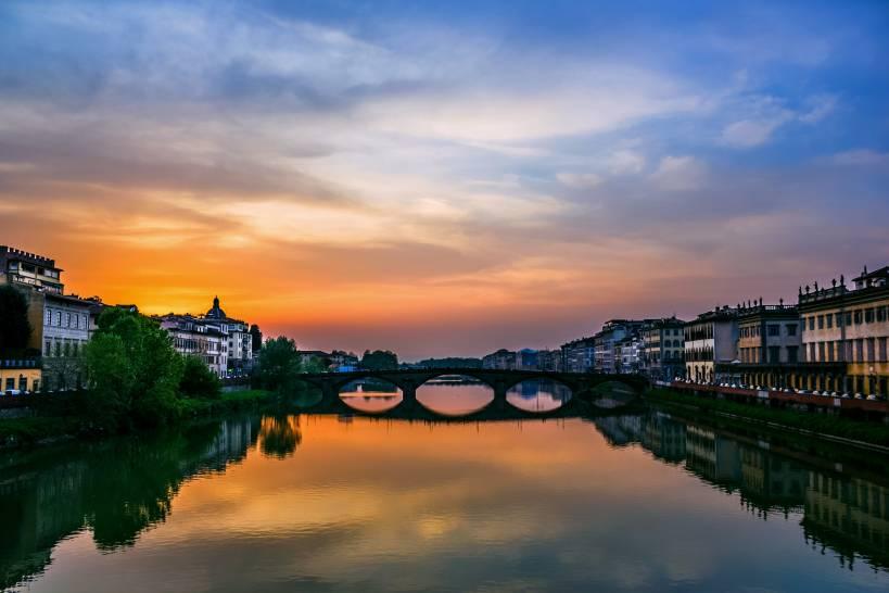 Tramonto sull'Arno