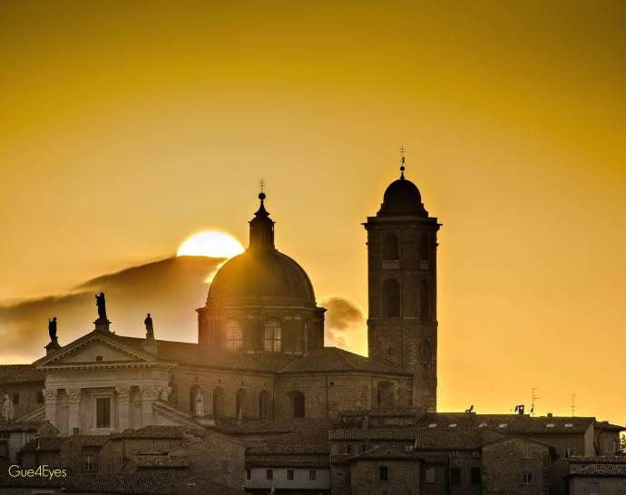 Tramonto dal Duomo di Urbino (Pesaro e Urbino) Marche