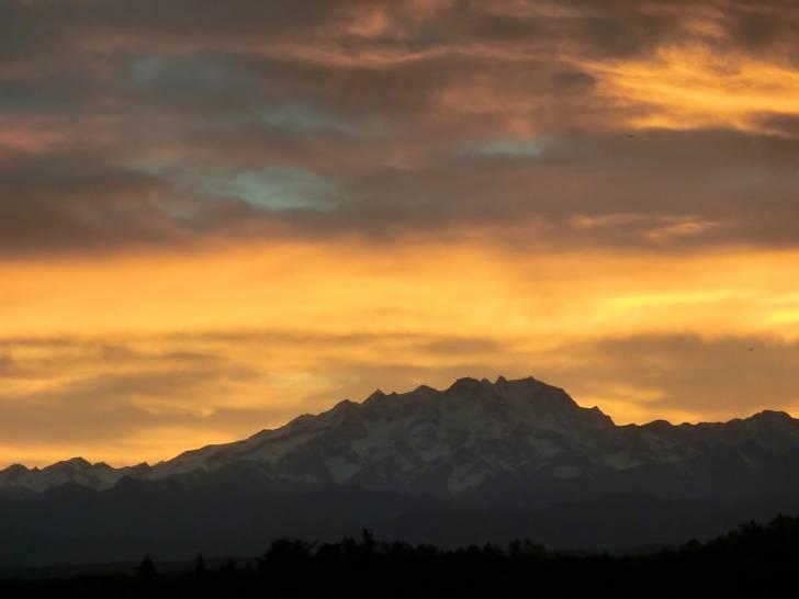 Tramonto sul Monte Rosa