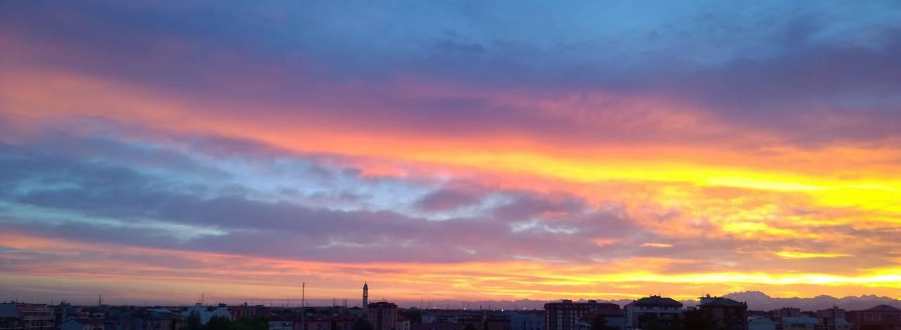 Bollate al tramonto
