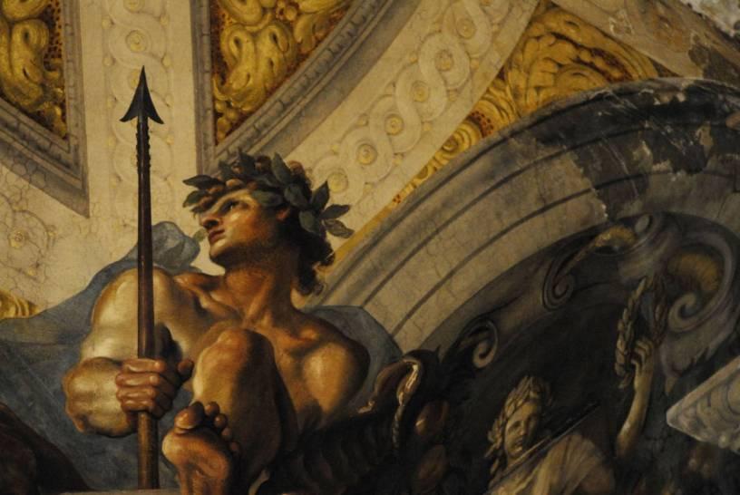 Ercole accolto in Olimpo - dettaglio - Domenico Maria Canuti (1626 - 1684)