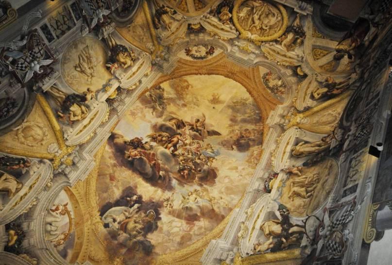 Ercole accolto in Olimpo - Domenico Maria Canuti (1626 - 1684)