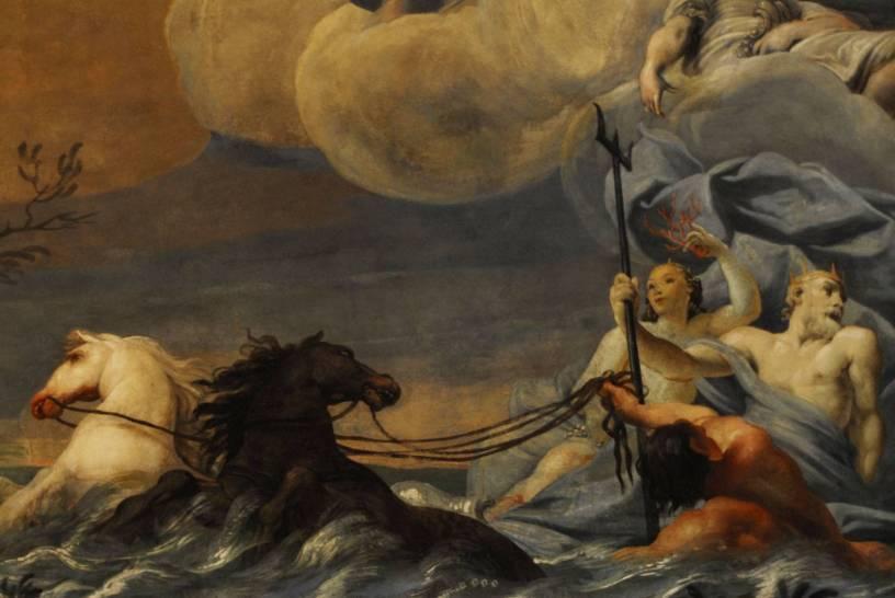 Affresco - Dettaglio con Poseidone ed Anfitrite