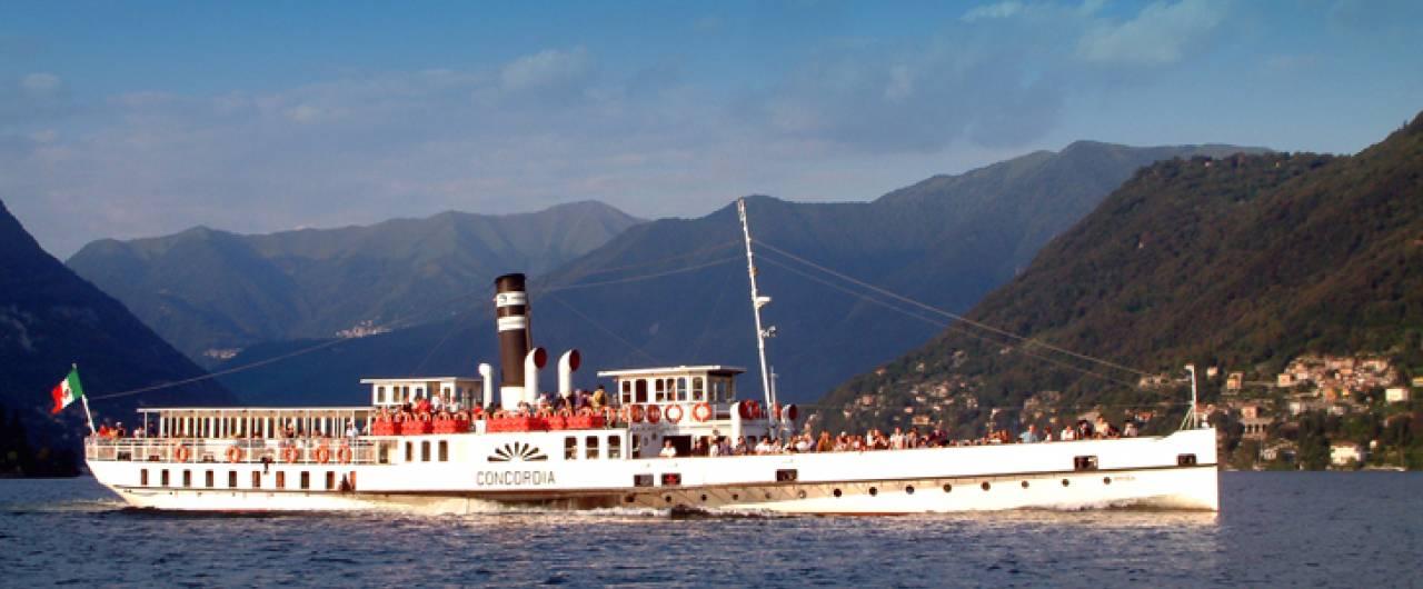 Il piroscafo Concordia torna a navigare sul lago di Como