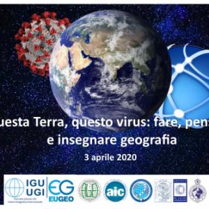 Come cambia oggi il modo di pensare, fare, insegnare la geografia? Un webinar gratuito venerdì 3 aprile