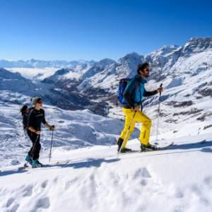 Ciaspole e scialpinismo a Cervinia. Insieme a Hervé Barmasse