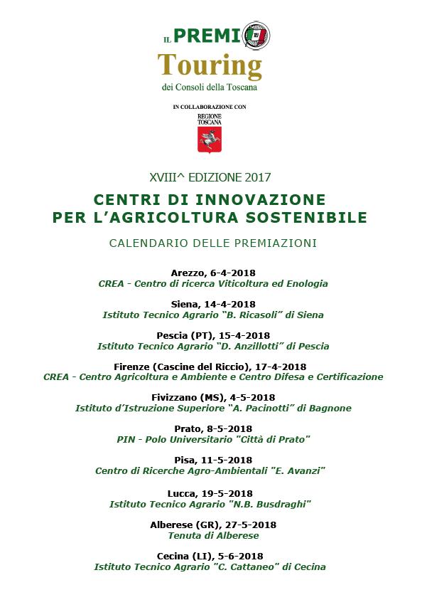 Calendario Imbottigliamento Vino 2020 Pdf.Toscana Il Premio Touring All Istituto Tecnico Agrario B