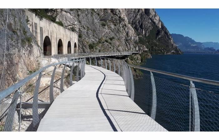 Inaugurata a Limone sul Garda la Ciclopista più bella del mondo