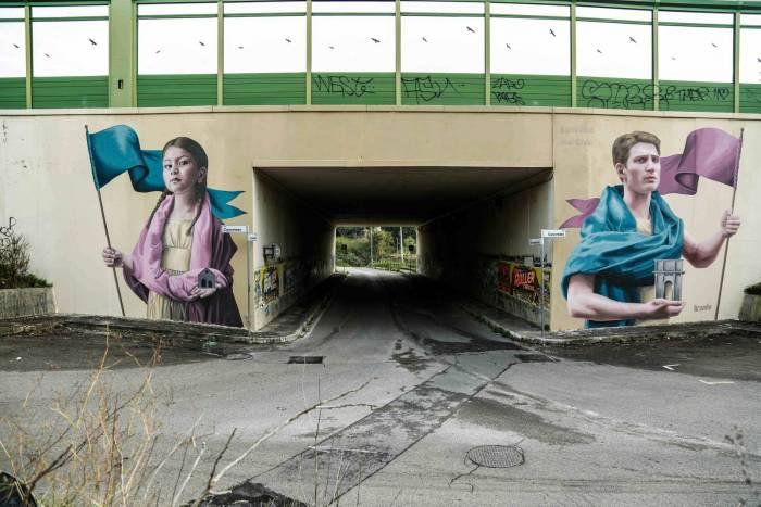 I Bagni Degli Uomini Veri : Roma: la street art colora il grande raccordo anulare 9 di 9