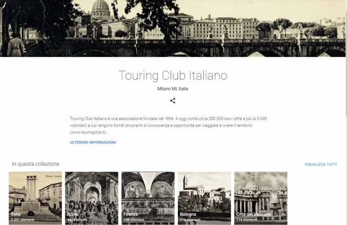 Il Touring Club e Google portano migliaia di cartoline online
