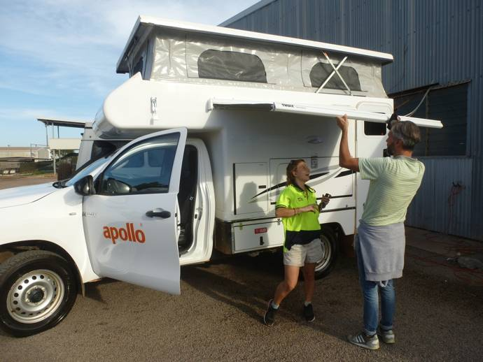 In camper nel northern territory in australia for Tettoia per camper